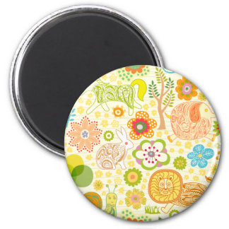 floral cute animals magnet
