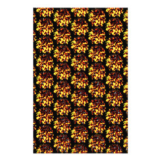 Floral Dahlia Flower Pattern Stationery