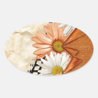 Floral Daisy Blossoms Destiny Gardens Sticker