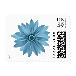 Floral Daisy Blue Flower - Daisies Postage