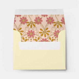 Floral Daisy Pattern Address Envelopes