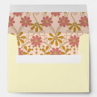 Floral Daisy Pattern Return Address Envelopes
