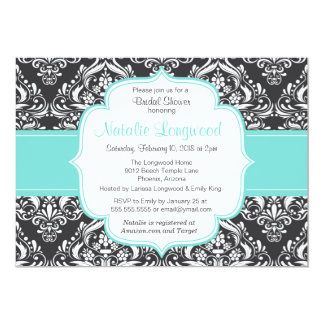 Floral Damask baby or bridal shower invitation