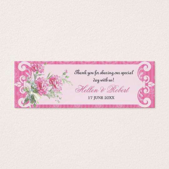 Floral Damask Elegant Wedding Favor Tag