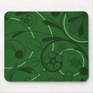 Floral Damask green Mouse Pad