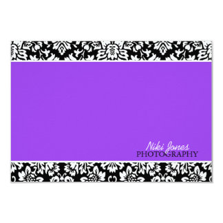 Floral Damask Notecards Announcements