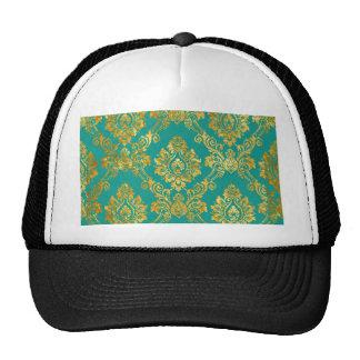 Floral Damask Pattern Mesh Hats