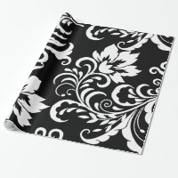 Floral Damask Pattern Wrapping Paper