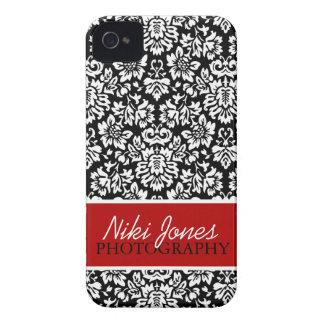 Floral Damask | Red iPhone 4 Cover
