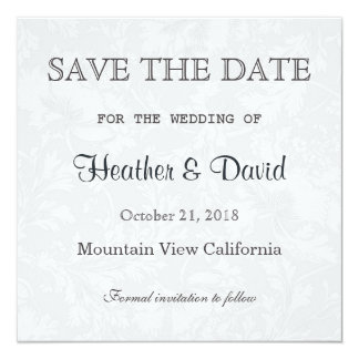 Floral Damask Save the Date Wedding Invitation