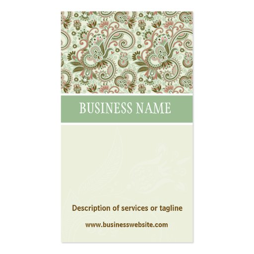 Floral Damask Trimming Business Card