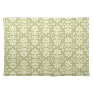 Floral damask wallpaper cloth placemat
