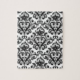 Floral damask wallpaper jigsaw puzzle