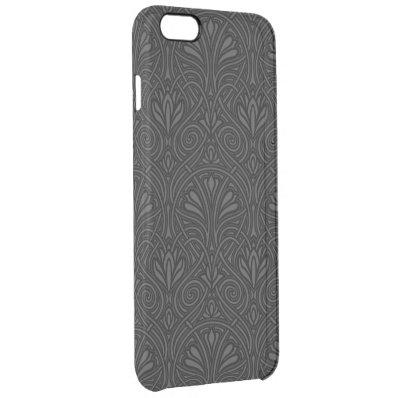 Floral Dark Damask Clear iPhone 6 Plus Case