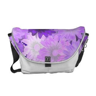 Floral de color de malva bolsa de mensajería