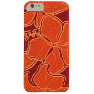 Floral de gran tamaño hawaiano del hibisco de funda de iPhone 6 plus barely there