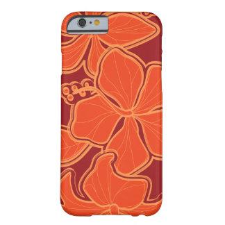 Floral de gran tamaño hawaiano del hibisco de funda de iPhone 6 barely there