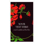 Floral de lujo plantillas de tarjetas de visita
