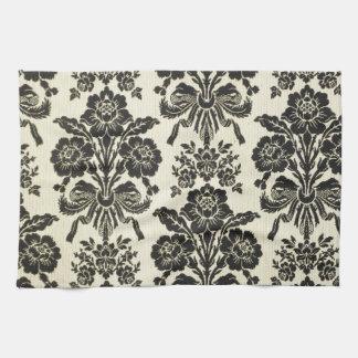 Floral de moda elegante del vintage negro rústico toallas
