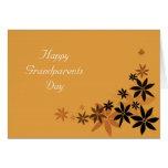 Floral de oro del día feliz de los abuelos tarjeta pequeña
