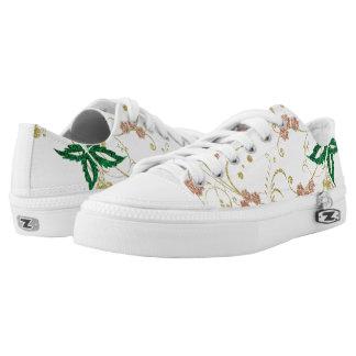 Floral de oro zapatillas