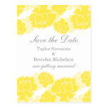 Floral Decadence Save the Date Postcard, Yellow