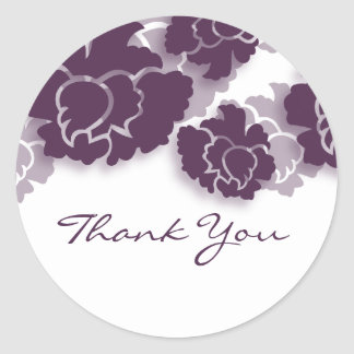 Floral Decadence Thank You Stickers