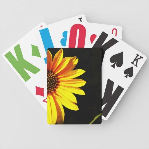 floral deck of cards