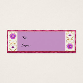 Floral Deco  Gift Tag