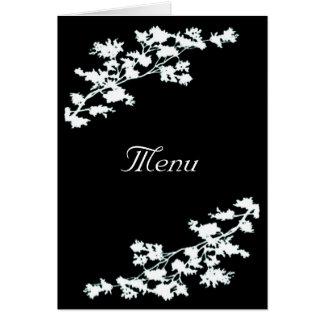 Floral Deco Wedding Menu Card