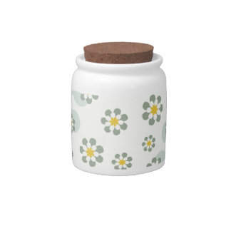 Floral Decor Candy Jars