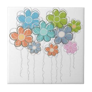 Floral Decor Ceramic Tile