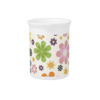 Floral Decor Drink Pitcher