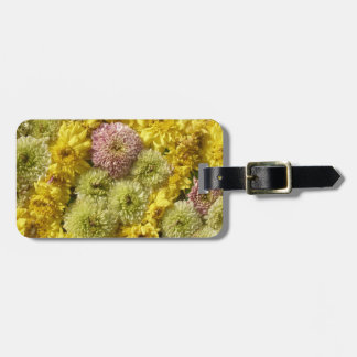 Floral decor luggage tag