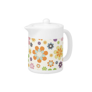 Floral Decor Teapot