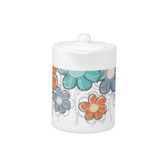 Floral Decor Teapot