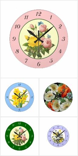 Floral Decor Wall Clocks