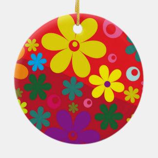 Floral Ornamentos De Navidad