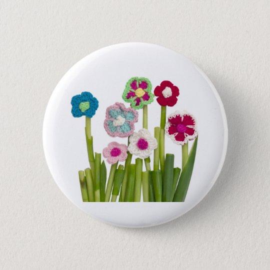 floral decoration button