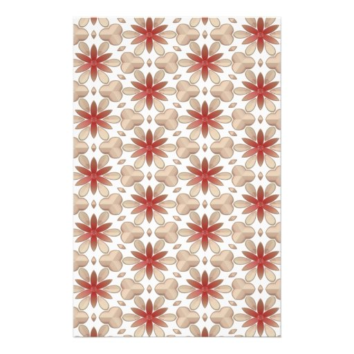 Floral Decoration. Floral Fabric Texture Pattern Personalized Stationery