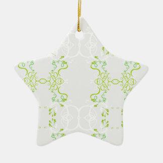 Floral decoration green spring ceramic ornament