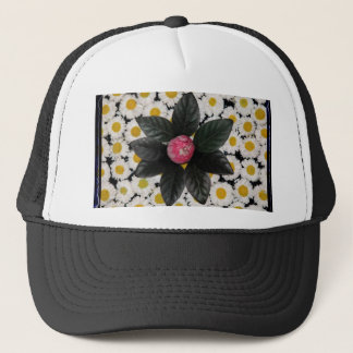Floral decoration trucker hat