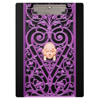 Floral Decorative Art Wrought Iron Clipboard