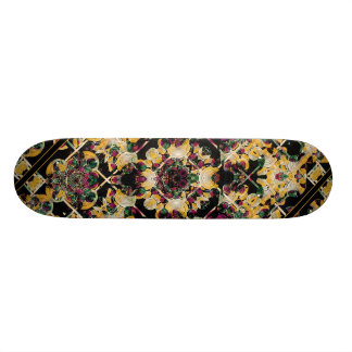 Floral Decorative Custom Skateboard