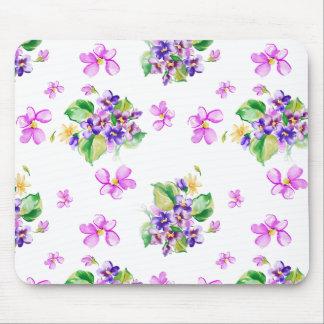 Floral delicado alfombrillas de ratón
