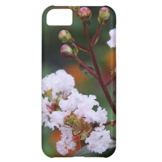 Floral, Delicate Pink Crepe Myrtle Bloom & Buds Case For iPhone 5C