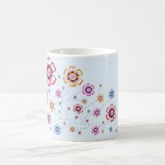 Floral Delight Classic White Coffee Mug