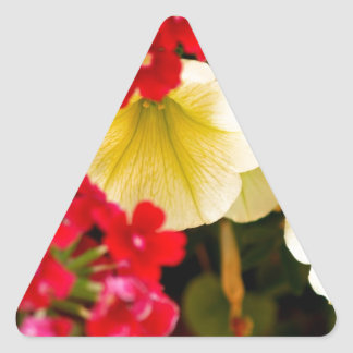Floral Delights Triangle Sticker