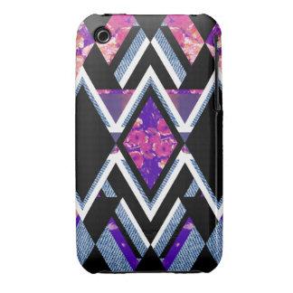 Floral Denim Tribal iPhone 3 Case-Mate Case