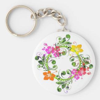 Floral Design 01 Keychain